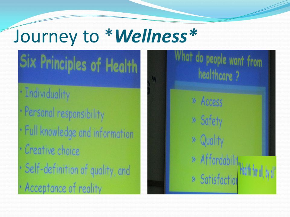 Journey to *Wellness*