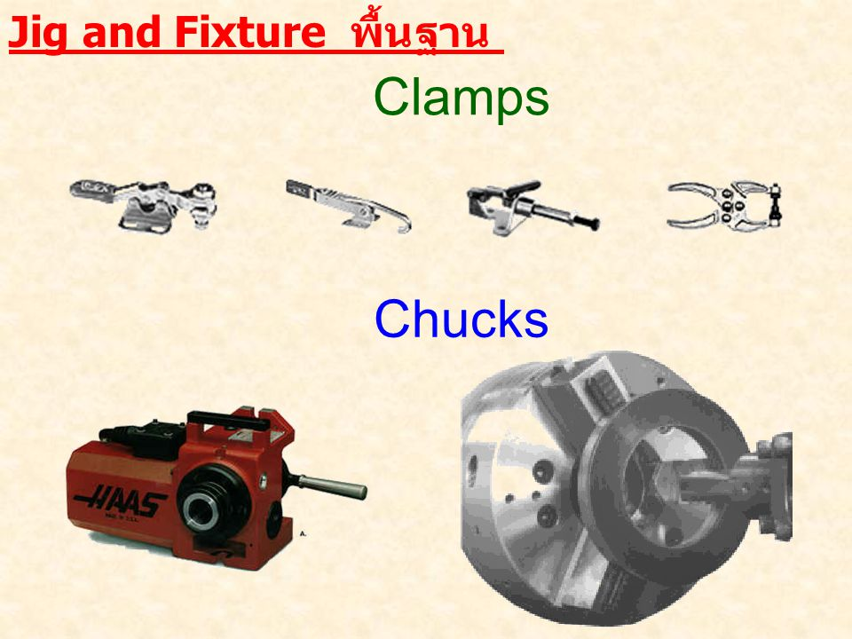 Jig and Fixture พื้นฐาน Clamps Chucks