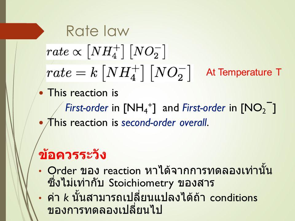 เลือก rate ของการทดลองครั้งที่ 1 และ 3 เพื่อหาค่า a เลือก rate ของการทดลองครั้งที่ 2 และ 4 เพื่อหาค่า b