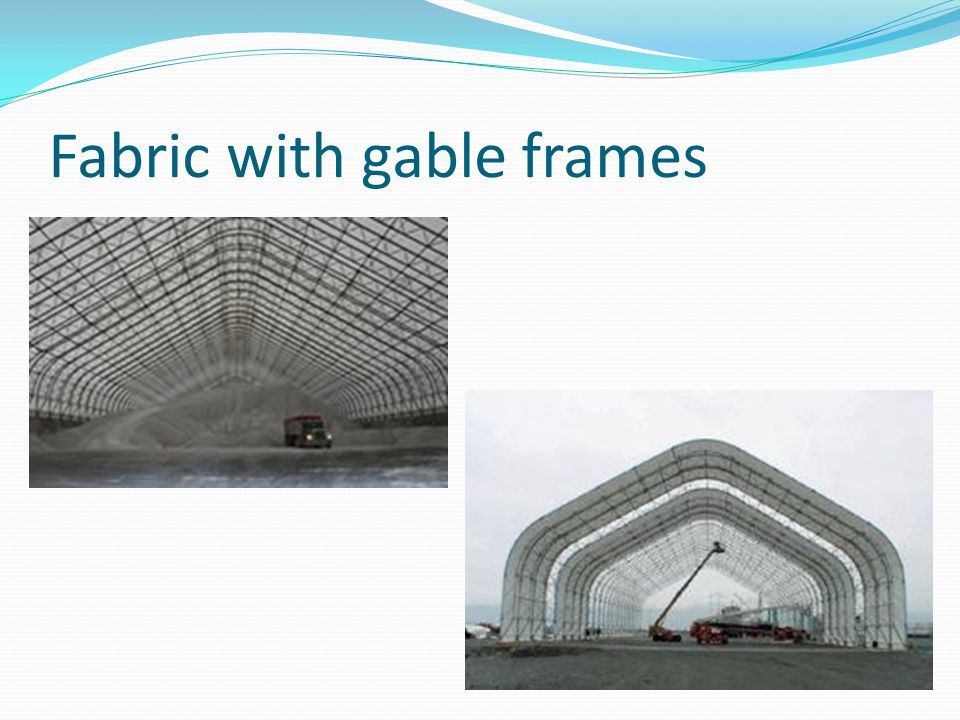 Fabric with gable frames