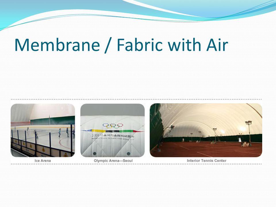 โครงสร้างอยู่ได้ด้วยอากาศในชั้น ของ Fabric รูปร่างขึ้นอยู่กับการตัดเย็บ