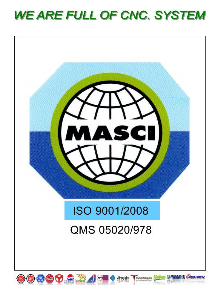 ISO 9001/2008 QMS 05020/978