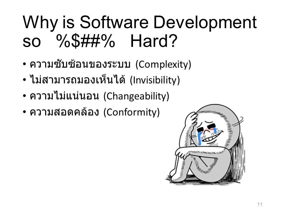 Why is Software Development so %$##% Hard.