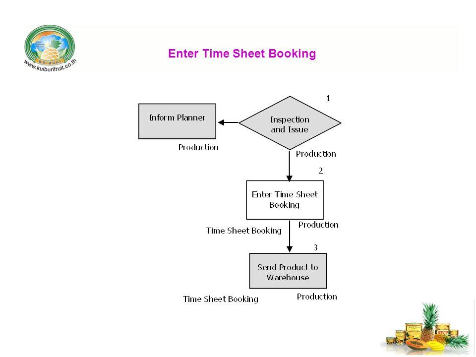 Enter Time Sheet Booking