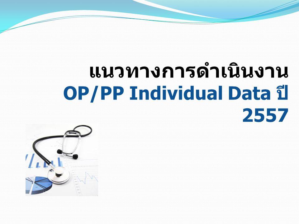 แนวทางการดำเนินงาน OP/PP Individual Data ปี 2557