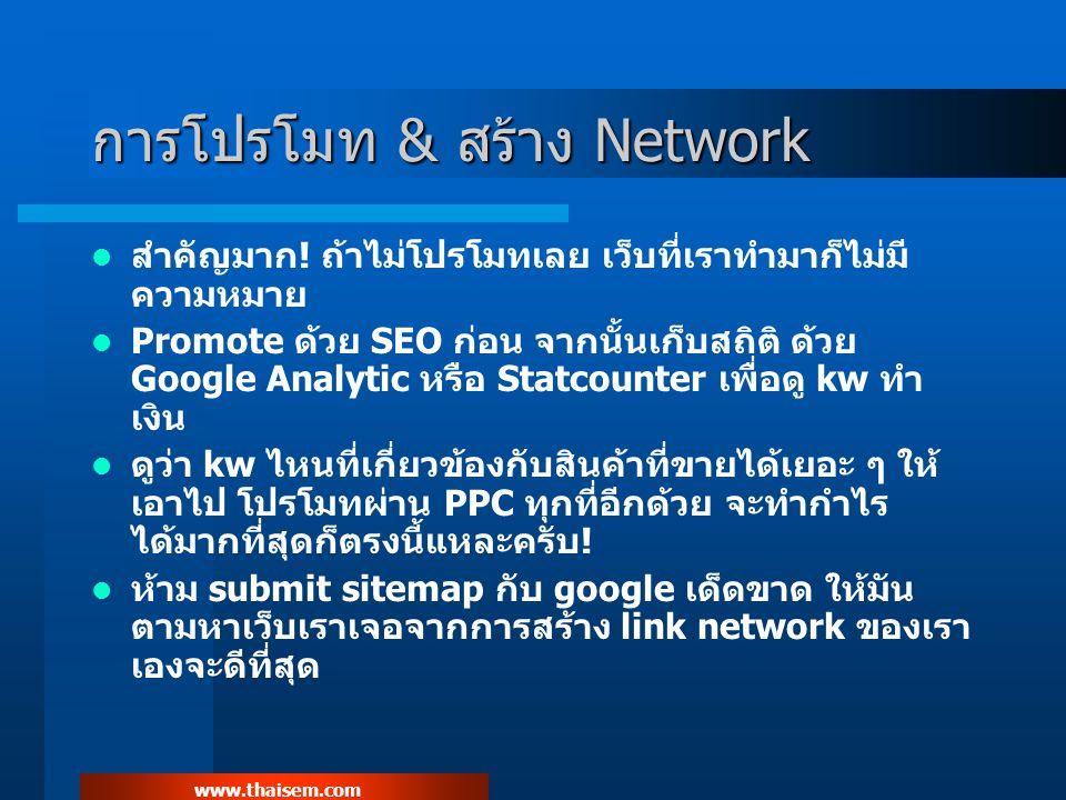 www.thaisem.com การโปรโมท & สร้าง Network สำคัญมาก.