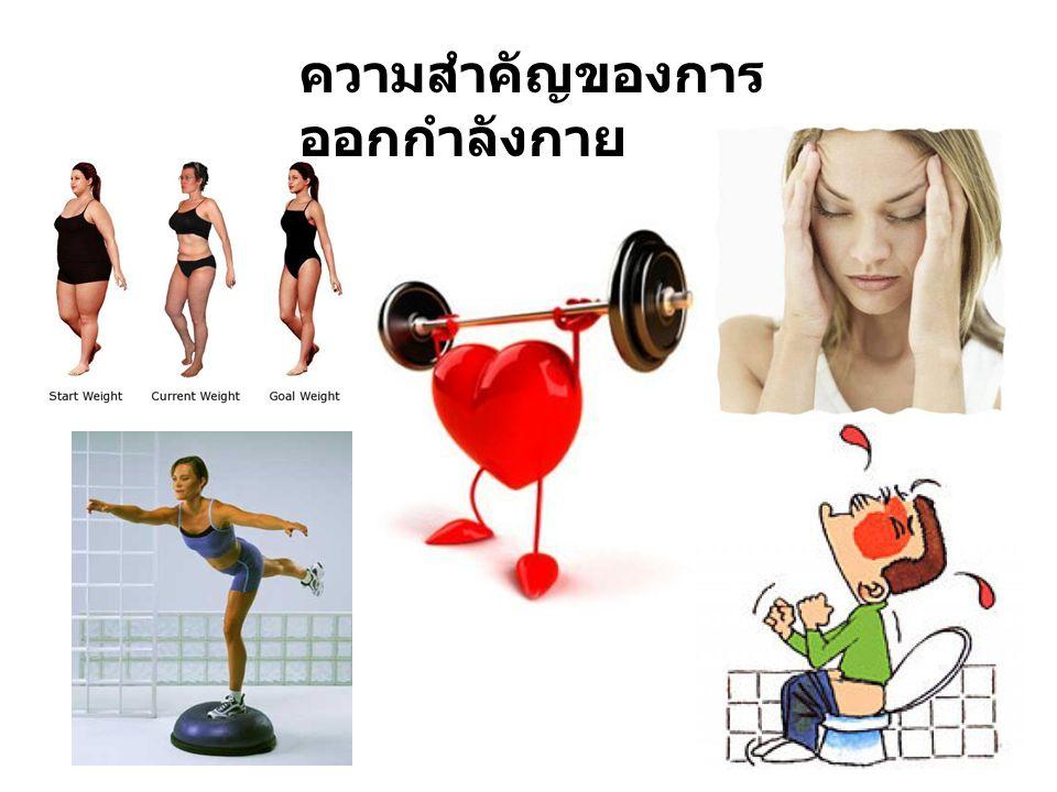ผลของการออกกำลังกายที่มีต่อ ระบบต่างๆของร่างกาย