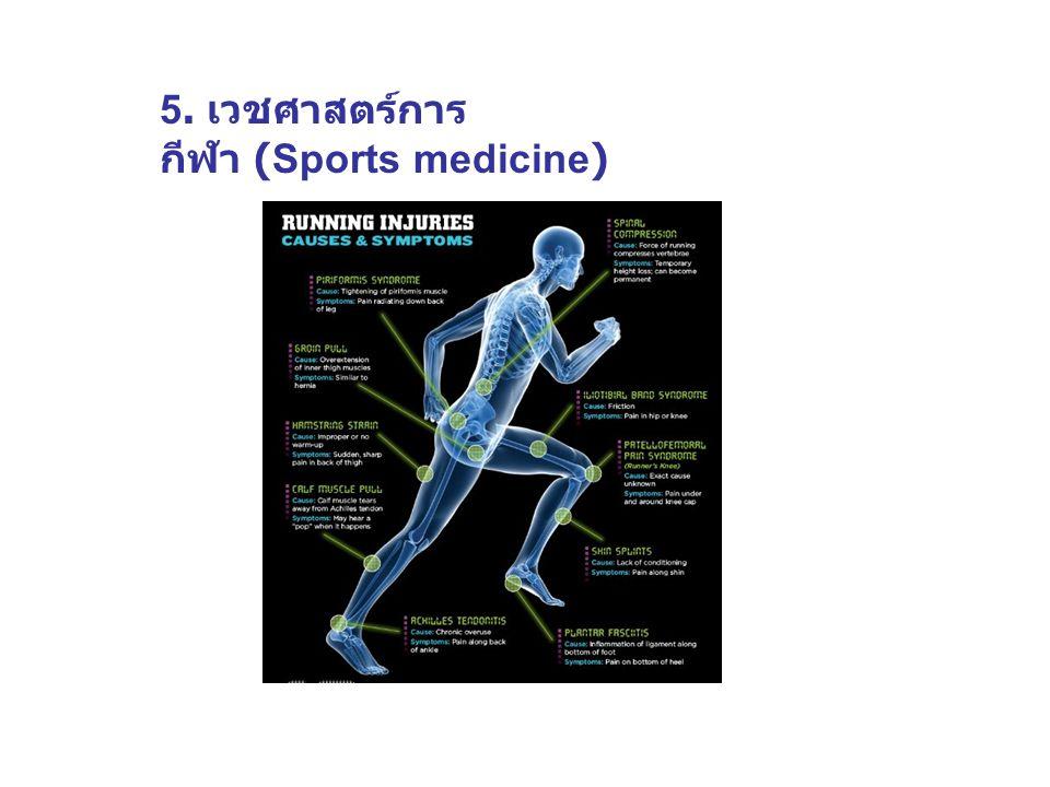 6. วิศวกรรมและ เทคโนโลยีการกีฬา (Sports engineering and technology)