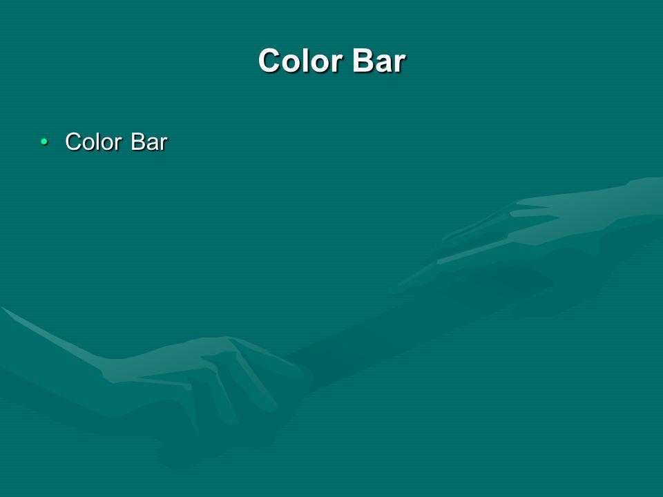 Color Bar Color Bar Color Bar