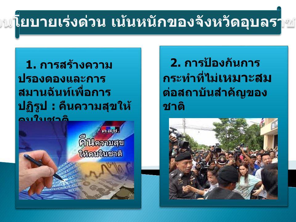3.การป้องกันและ ปราบปรามยาเสพติด อบายมุข และการ กระทำผิดกฎหมายอื่น 4.