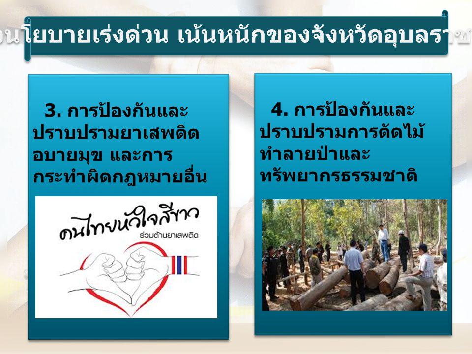 5.การรณรงค์ ป้องกันและแก้ไขปัญหา การทุจริตในวงราชการ 6.