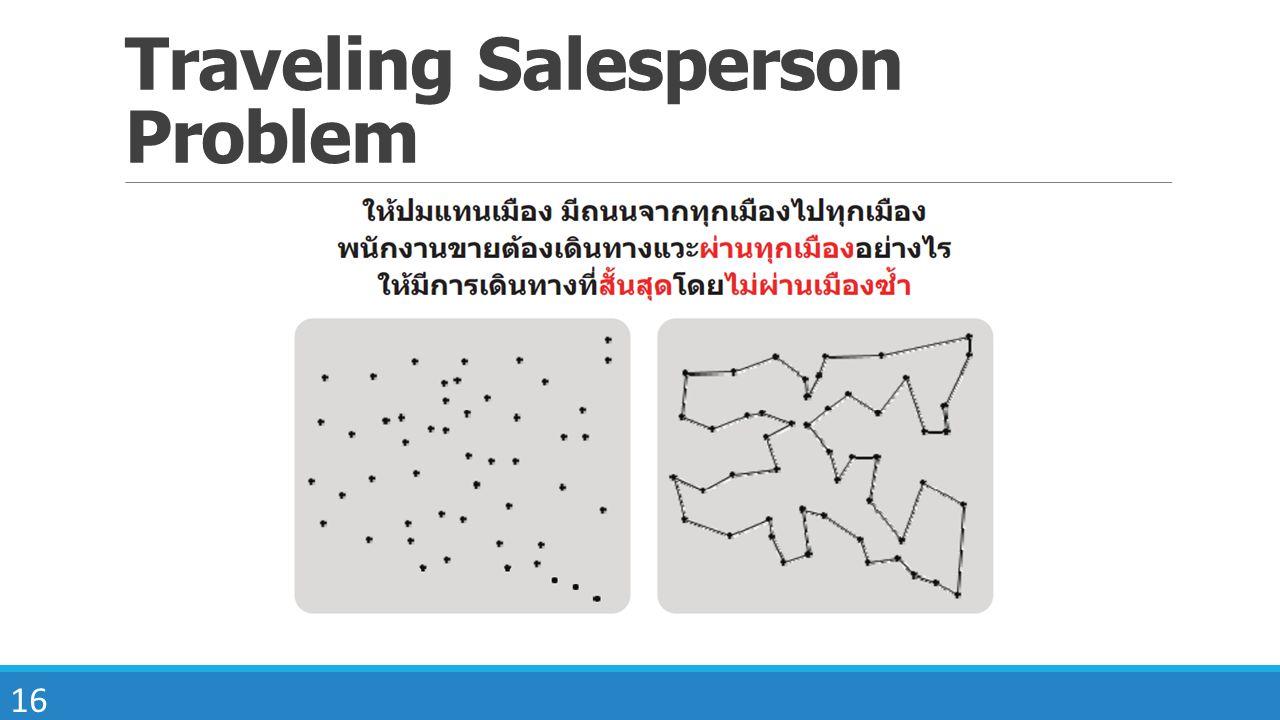 16 Traveling Salesperson Problem