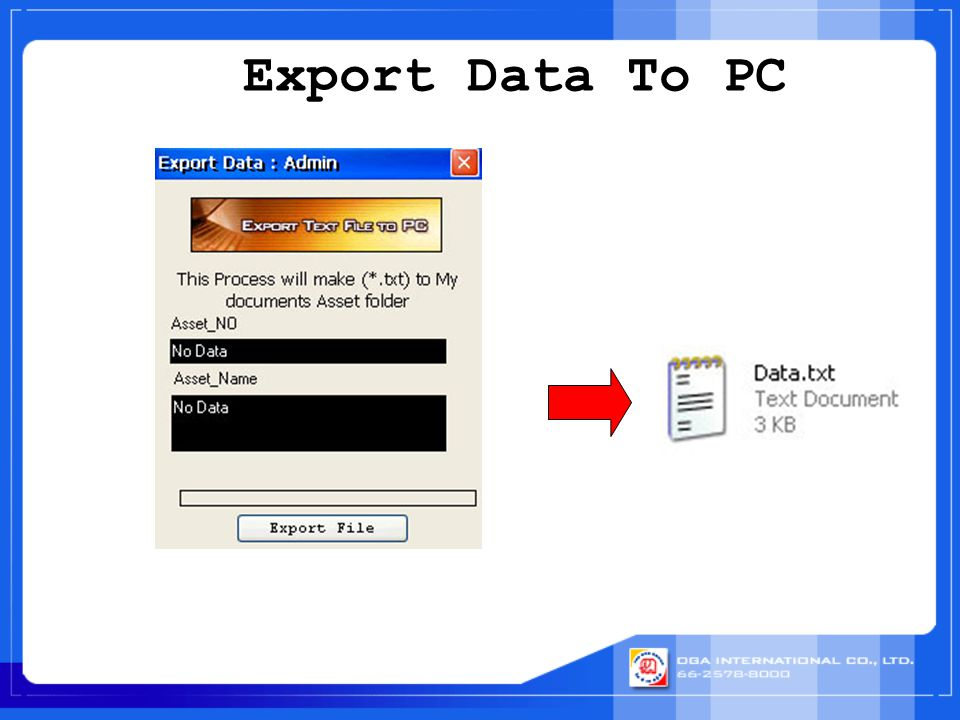 Export Data To PC