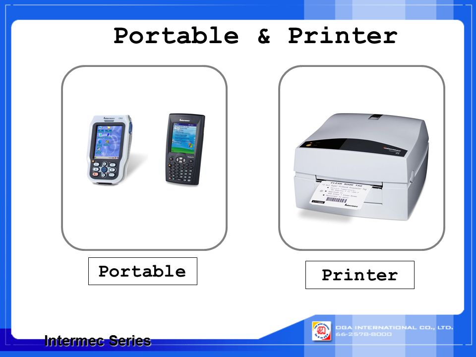Portable & Printer Intermec Series Portable Printer