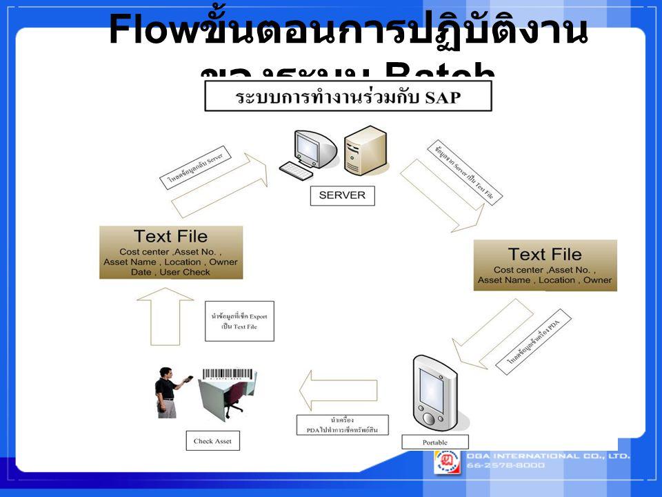 Flow ขั้นตอนการปฏิบัติงาน ของระบบ Batch