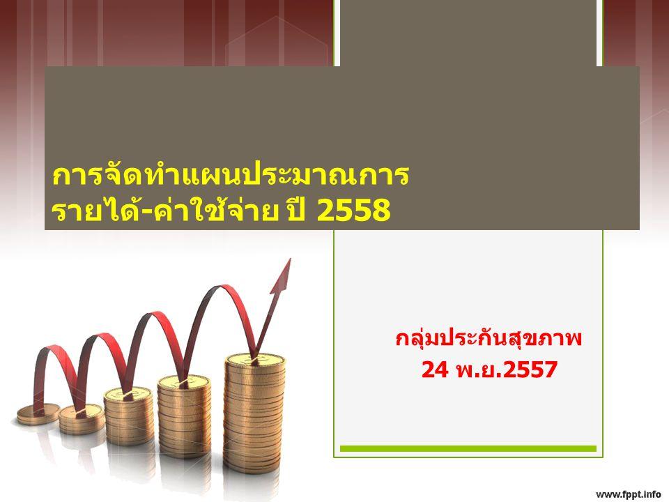 เป้าหมาย ตัวชี้วัด กระทรวงสาธารณสุข ประสิทธิภาพ ของการบริหารการเงิน สามารถควบคุมปัญหา การเงินระดับ 7 เขต หน่วยบริการ (แห่ง) ทั้งหมด วิกฤตระดับ 7 2557Q3 ร้อยละ เป้าหมายลด ปี 2558 จำนวนที่ติดวิกฤต 7 ระดับในปี 2558 ร้อยละ เขต 1 991616% 7 99% เขต 2 471736% 8 920% เขต 3 50510% 2 35% เขต 4 70913% 4 57% เขต 5 651015% 5 58% เขต 6 691014% 5 58% เขต 7 721217% 5 79% เขต 8 8678% 3 44% เขต 9 8933% 1 22% เขต 10 712839% 13 1521% เขต 11 752128% 10 1115% เขต 12 771823% 8 1013% รวม 87015618% 71 8510%