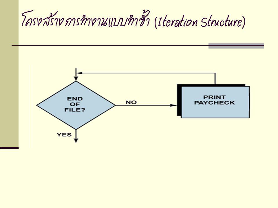 โครงสร้างการทำงานแบบทำซ้ำ (Iteration Structure)