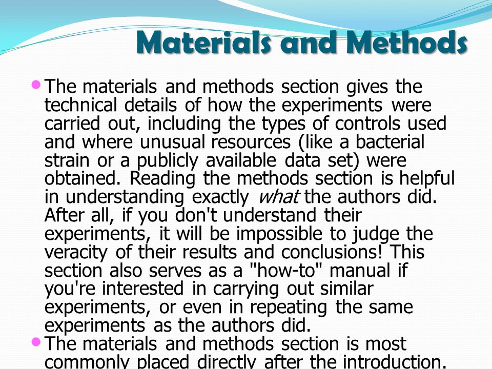 Materials and Methods The materials and methods section gives the technical details of how the experiments were carried out, including the types of controls used and where unusual resources (like a bacterial strain or a publicly available data set) were obtained.