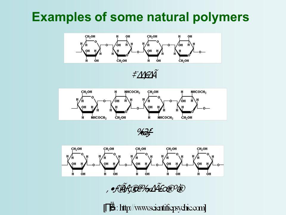 Bonding in polymers Type of bonds –Primary covalent –Hydrogen bond ex.