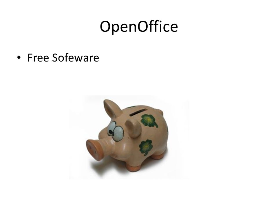 OpenOffice Free Sofeware