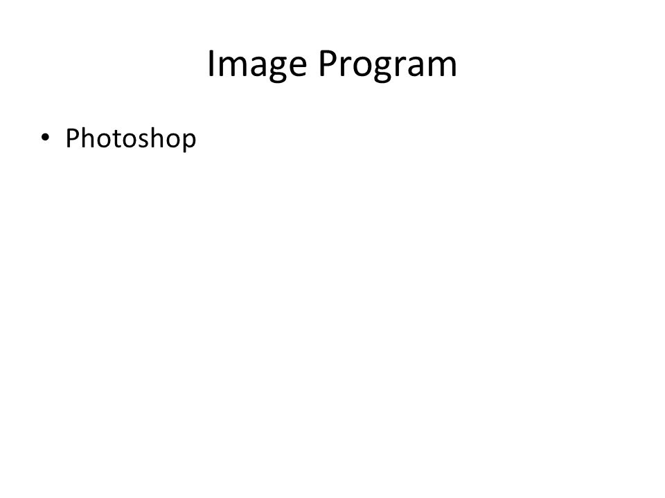 Image Program Photoshop