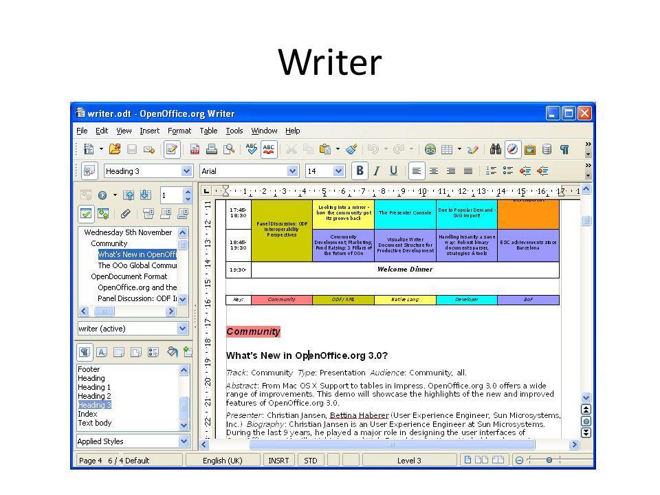 Features StarOffice 9 Writer (Word Processing) StarOffice 9 Calc (Spreadsheet) StarOffice 9 Impress (Presentation) StarOffice Extensions (Note) StarOffice Extensions StarOffice 9 Draw (Graphics) StarOffice 9 Base (Database)