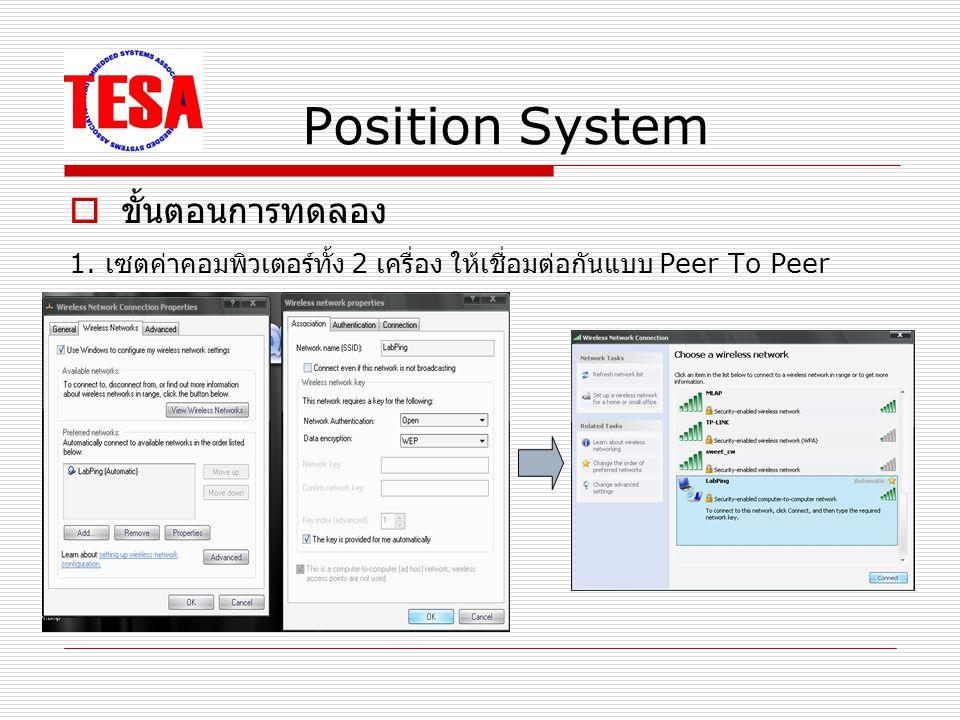 Position System ระยะทาง ( ซ.