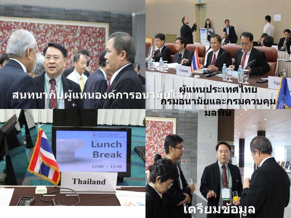 ผู้แทนประเทศไทย กรมอนามัยและกรมควบคุม มลพิษ สนทนากับผู้แทนองค์การอนามัยโลก เตรียมข้อมูล