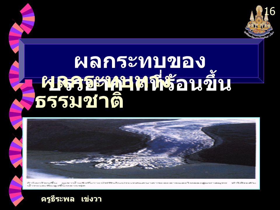 ครูธีระพล เข่งวา 16 ผลกระทบของ บรรยากาศที่ร้อนขึ้น ผลกระทบทาง ธรรมชาติ