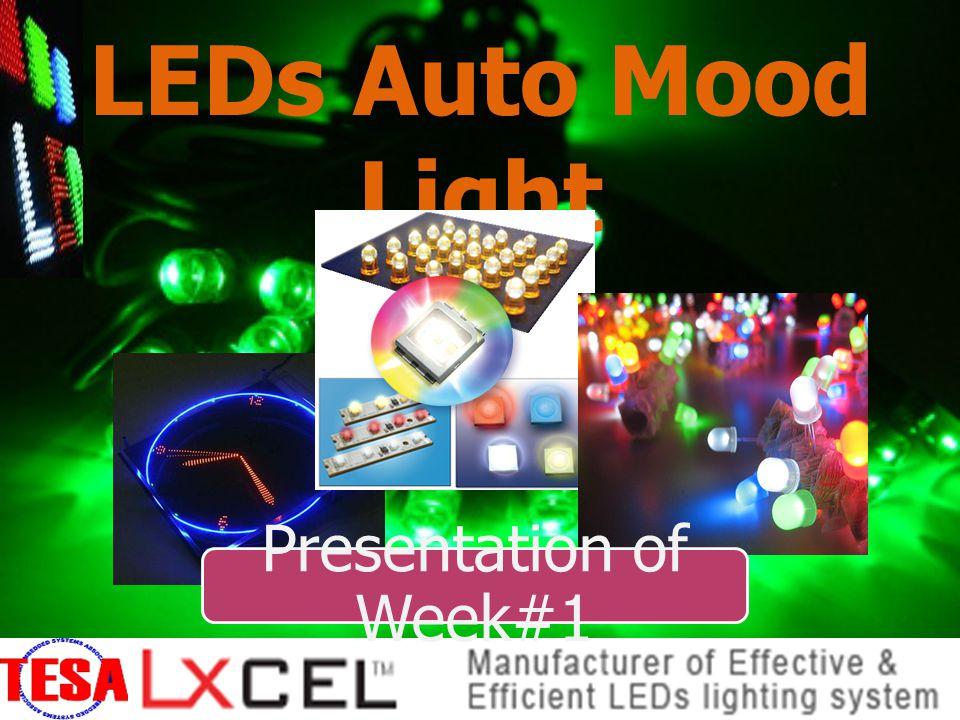 LEDs Auto Mood Light นายวสันต์ ชานุชิต KKU นายวรากร สอนนุ้ย WU นางสาวอัญธิชา พงษ์ไตรรัตน์ KKU