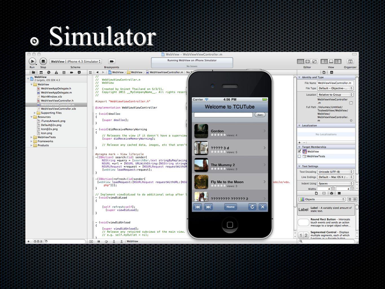 ๏ Simulator