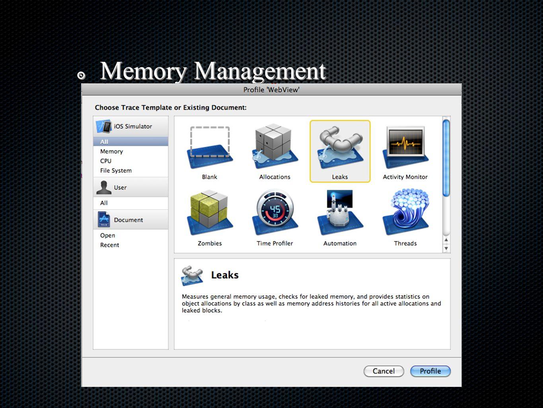 ๏ Memory Management
