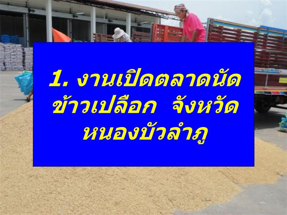ร่วมงานเปิดตลาดนัดข้าวเปลือก ปี 2553/2554 เมื่อวันที่ 3 มิถุนายน 2554 ณ สหกรณ์การเกษตรเพื่อการตลาดลูกค้า ธนาคารเพื่อการเกษตรและสหกรณ์การเกษตร บ้านห้วยบง หมู่ที่ 3 ตำบลโพธิ์ชัย อำเภอ เมืองหนองบัวลำภู จังหวัดหนองบัวลำภู โดย มี นายสมาน วงศ์วรายุทธ รองผู้ว่าราชการ จังหวัดหนองบัวลำภู เป็นประธานในพิธีเปิด