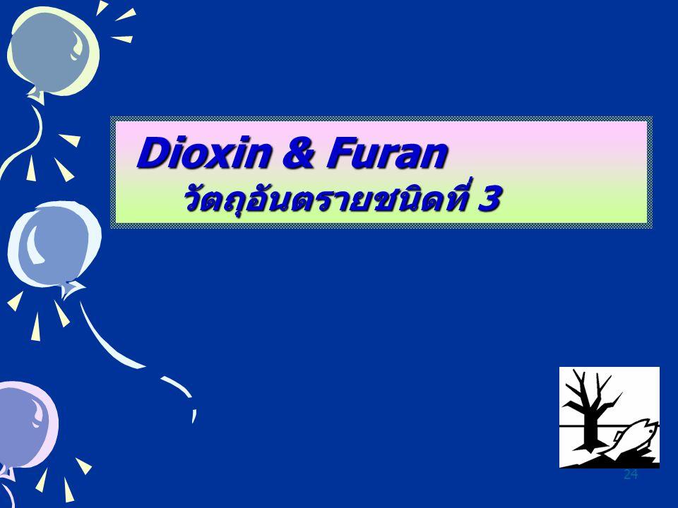 24 Dioxin & Furan วัตถุอันตรายชนิดที่ 3 วัตถุอันตรายชนิดที่ 3