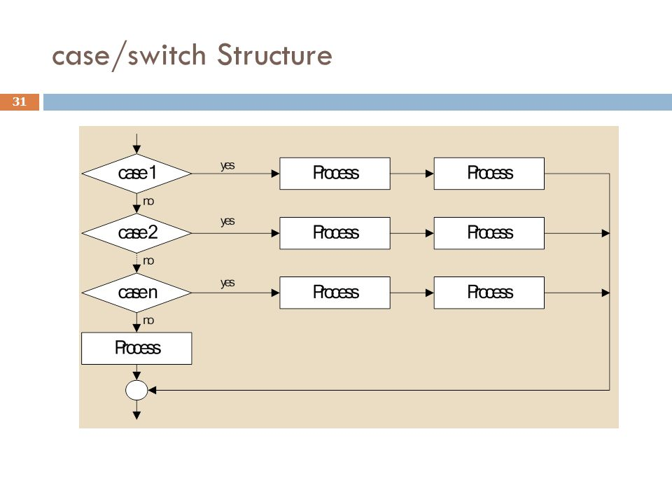 case/switch Structure 31