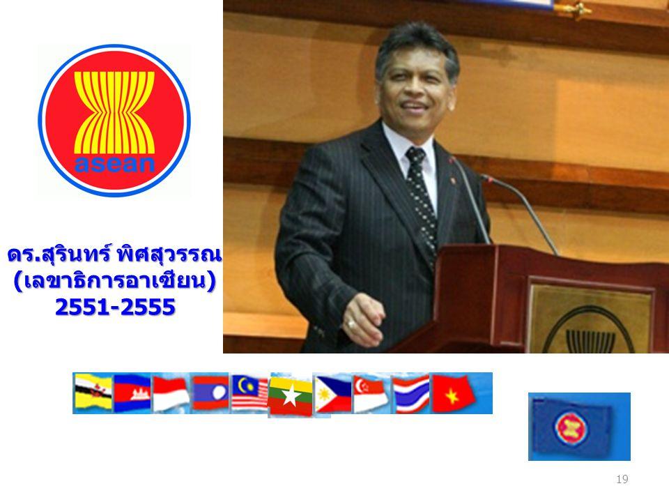 ดร.สุรินทร์ พิศสุวรรณ (เลขาธิการอาเซียน) 2551-2555 19