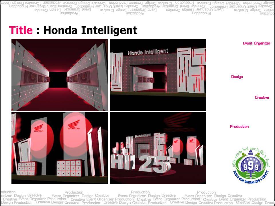 Title : Honda Intelligent
