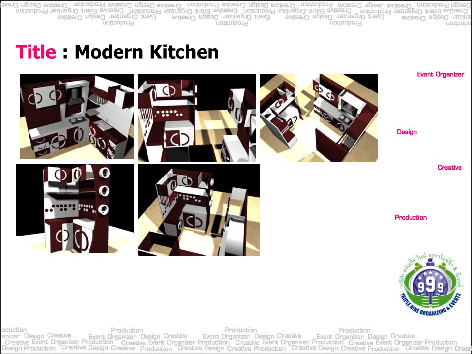 Title : Modern Kitchen