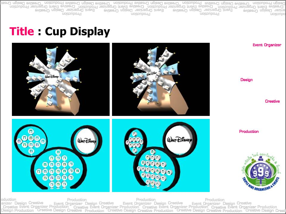 Title : Cup Display