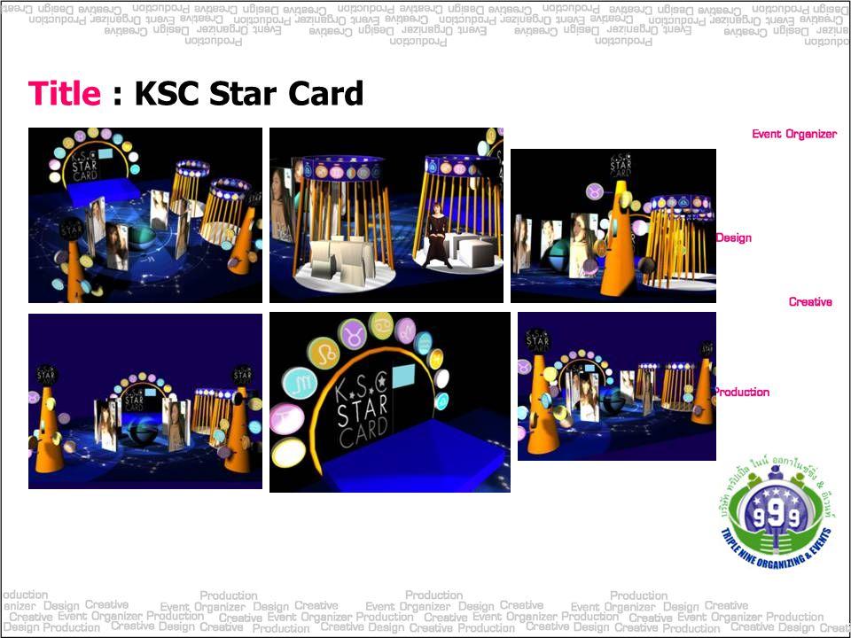 Title : KSC Star Card