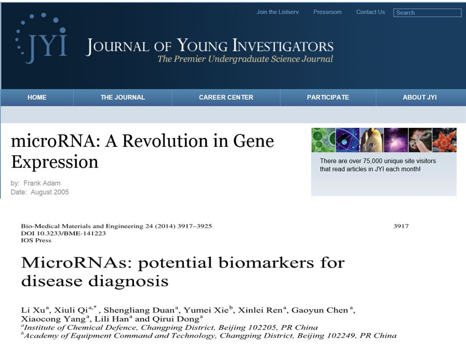 Small non-coding RNA molecule (21-25 nucleotides) Encoded by miRNA gene Found in plants, animals, and some viruses ssRNA with stem-loop structure