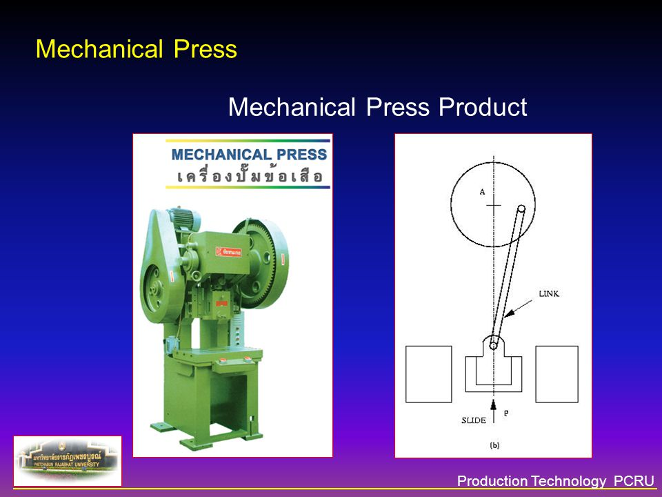 Production Technology PCRU Mechanical Press Mechanical Press Product