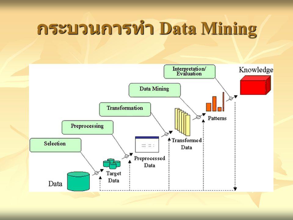 กระบวนการทำ Data Mining