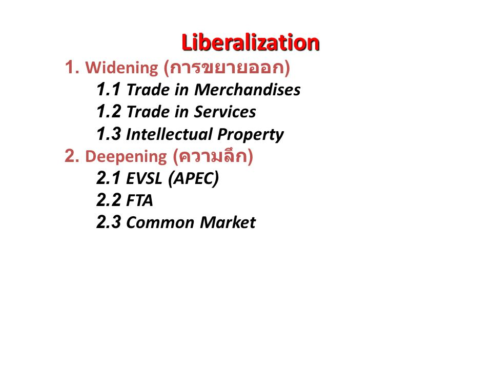 Globalization 1. Political Globalization - Normative Foreign Policy : Black & White Paradigm ( Axis of Evils ) - Human Rights - Liberal Democracy 2. E