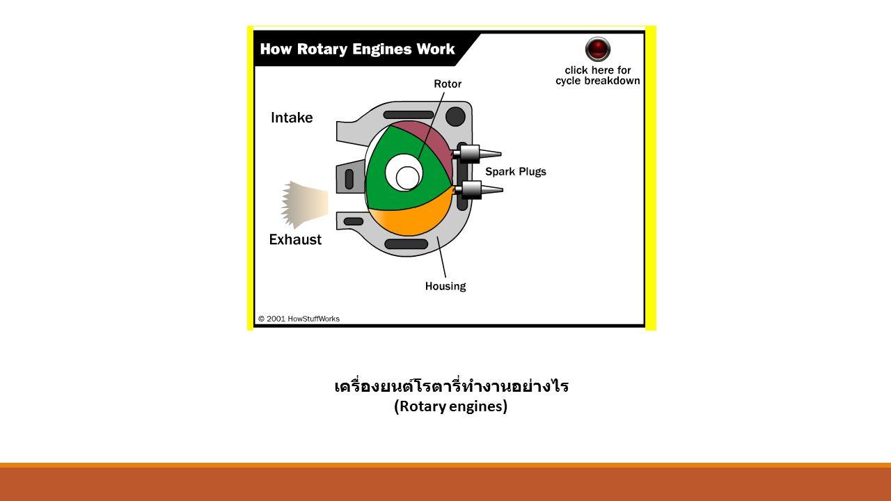 เครื่องยนต์โรตารี่ทำงานอย่างไร (Rotary engines)