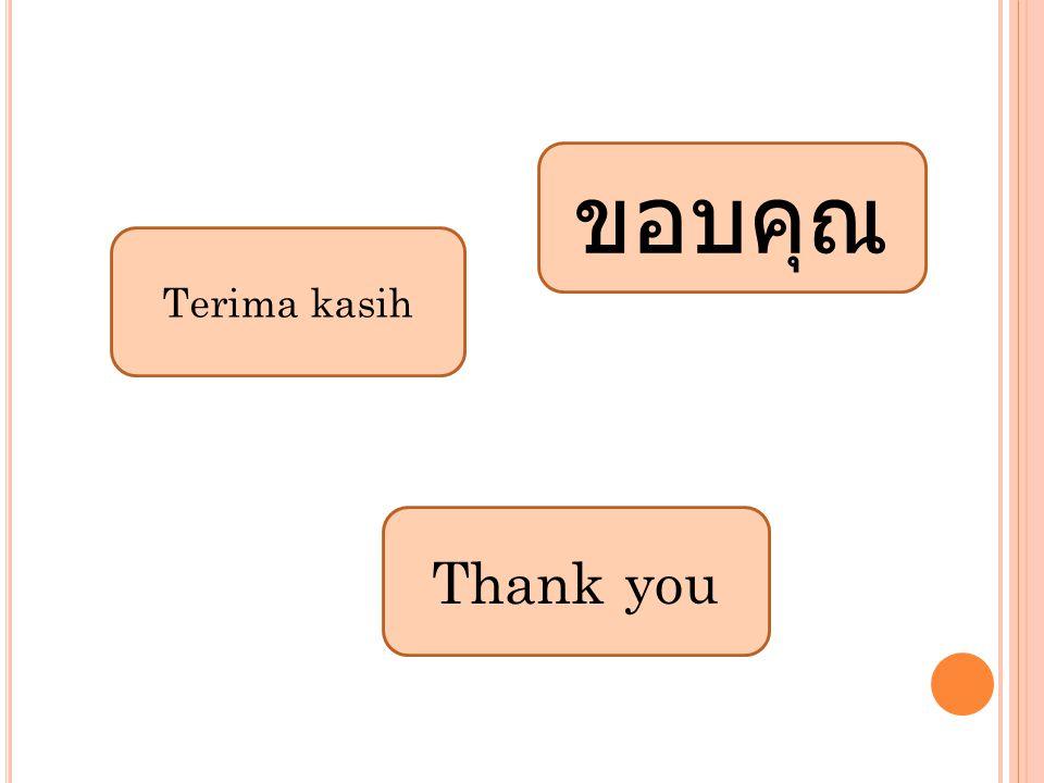 ขอบคุณ Terima kasih Thank you