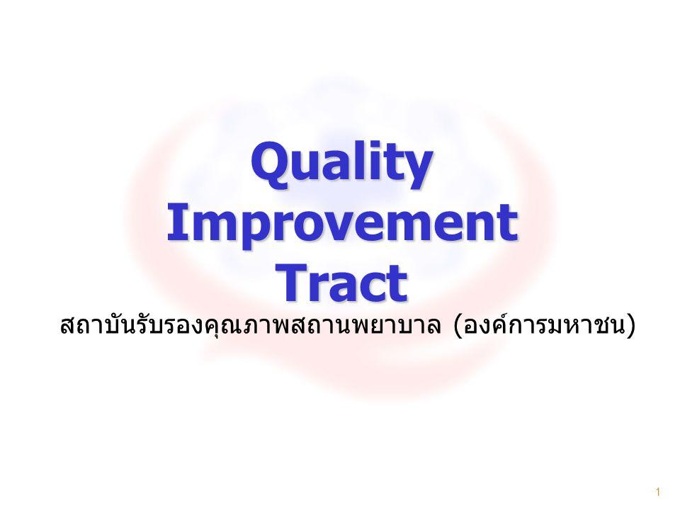 1 Quality Improvement Tract สถาบันรับรองคุณภาพสถานพยาบาล ( องค์การมหาชน )