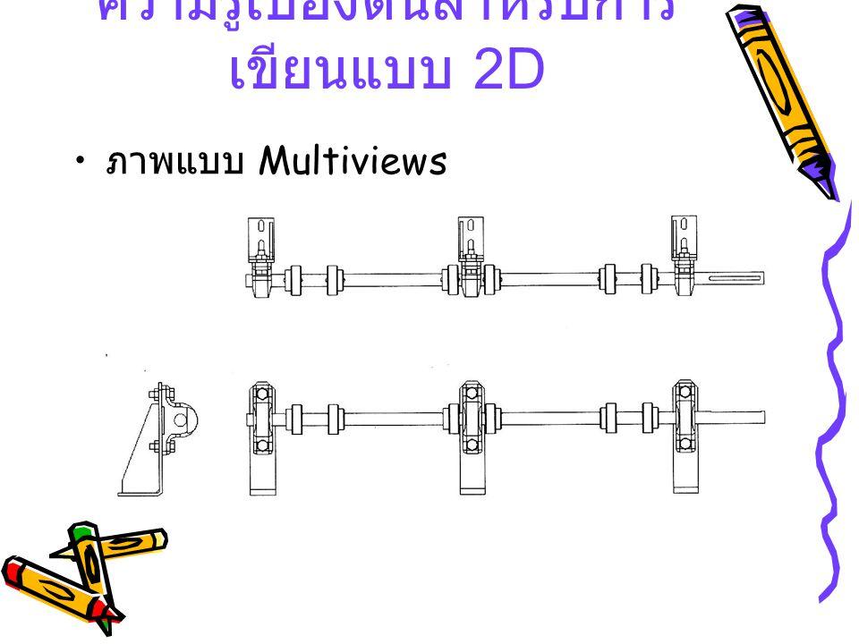 ภาพแบบ Multiviews ความรู้เบื้องต้นสำหรับการ เขียนแบบ 2 D