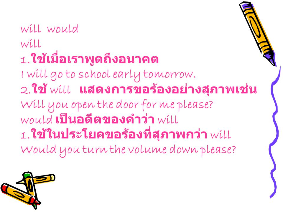 2.ใช้กับประโยค Would you mind if.... Would you mind if I smoke.