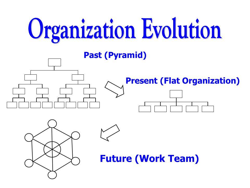 Past (Pyramid) Present (Flat Organization) Future (Work Team)